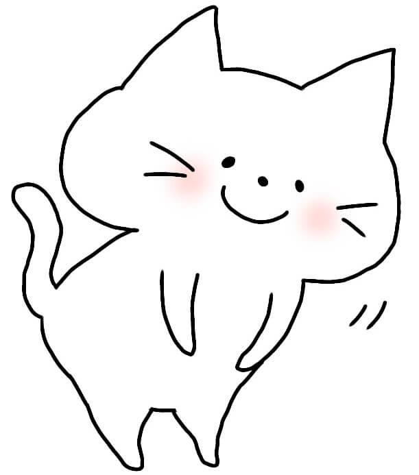 おじぎしているネコ