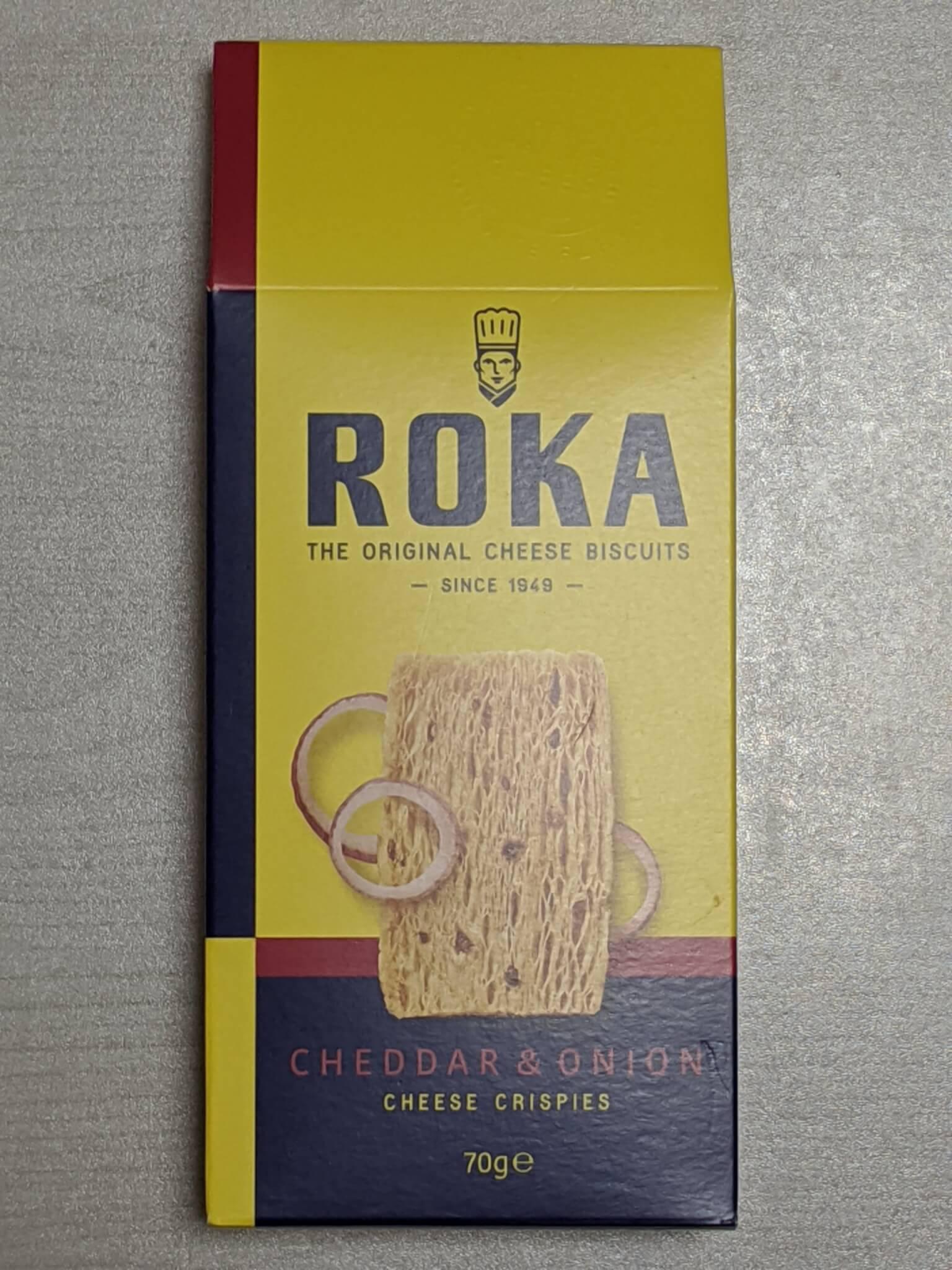 ロカのチェダーチーズ&オニオンクリスプ