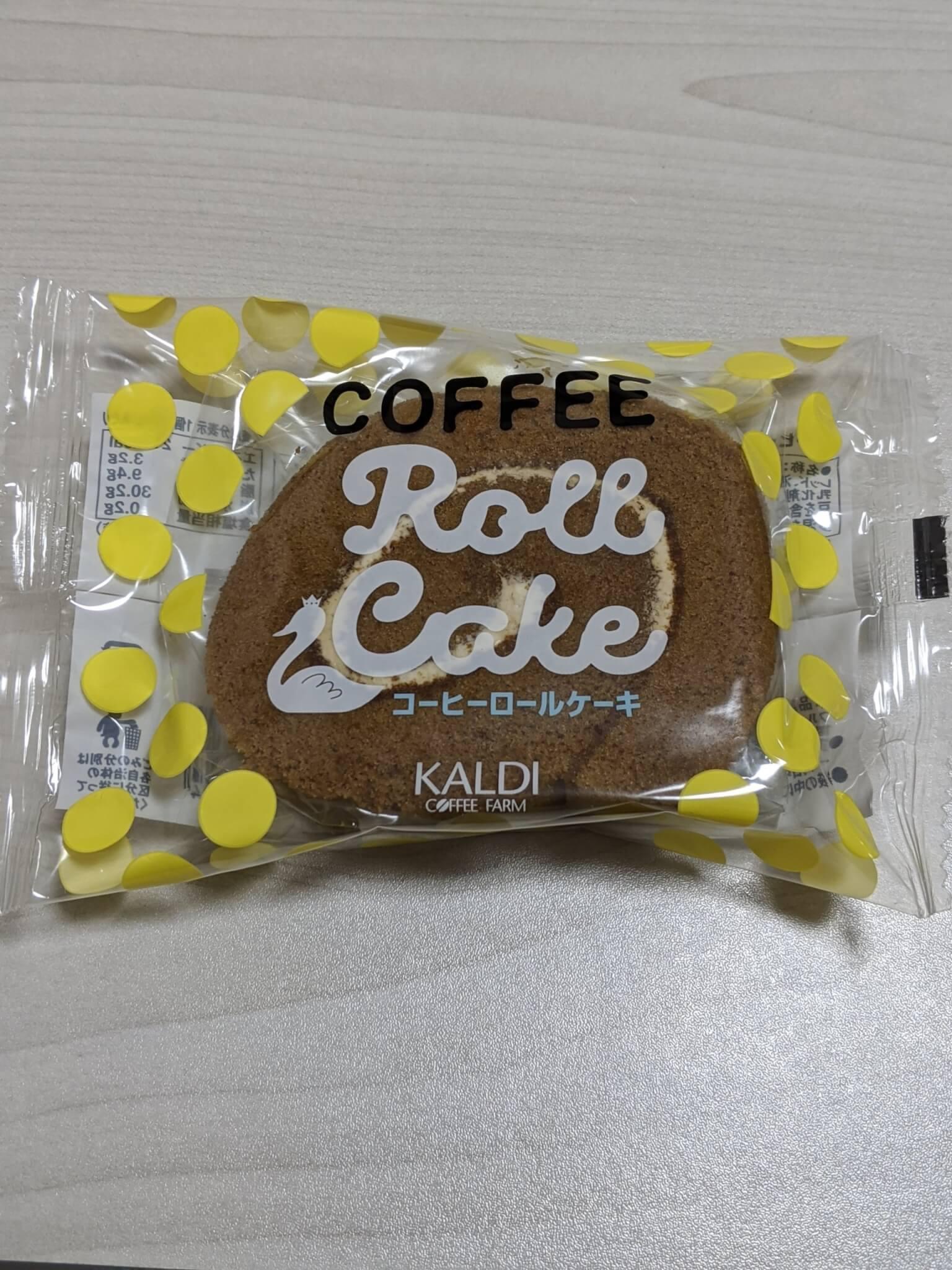カルディのコーヒーロールケーキ