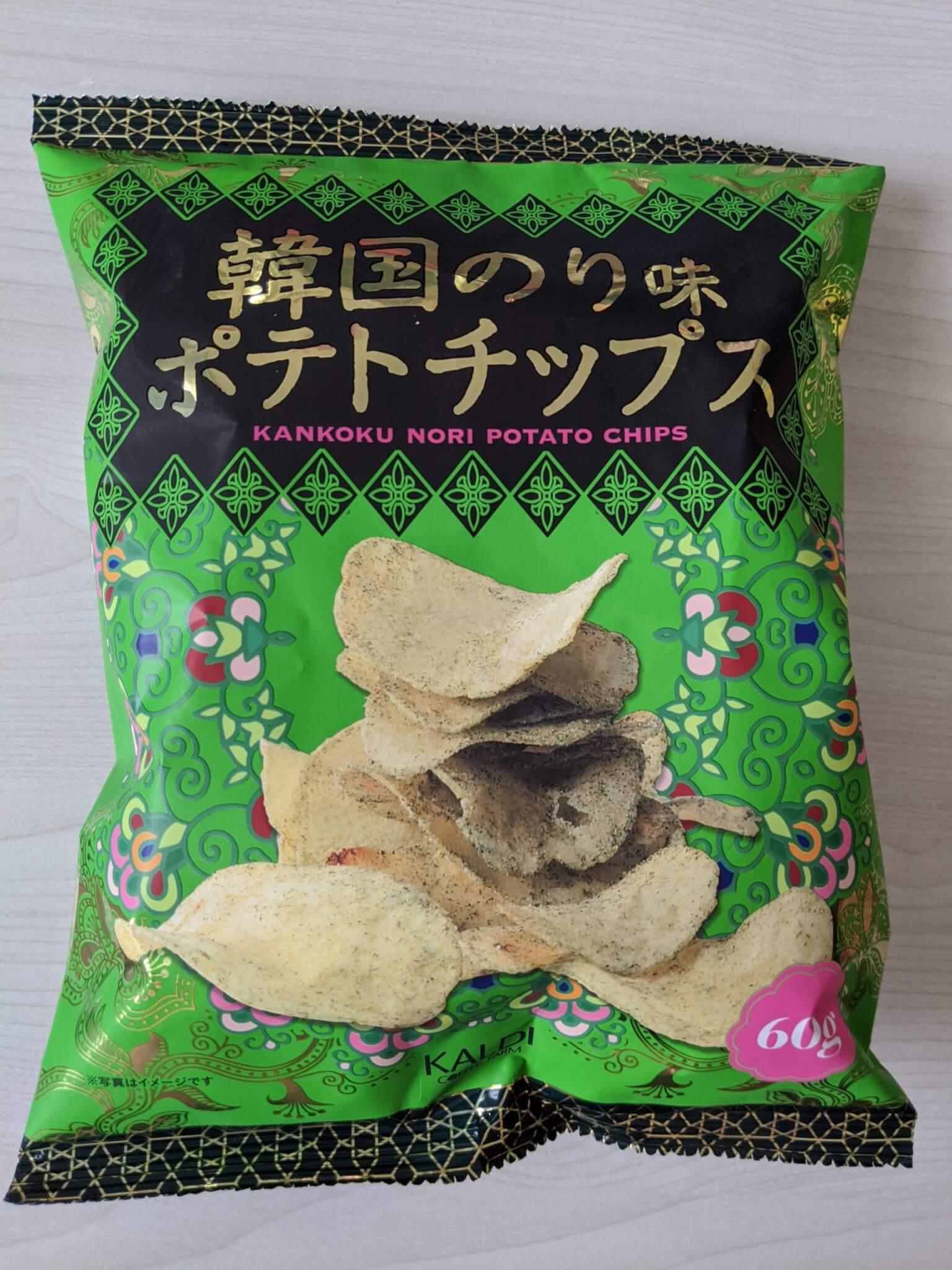 カルディ 韓国のり味ポテトチップス