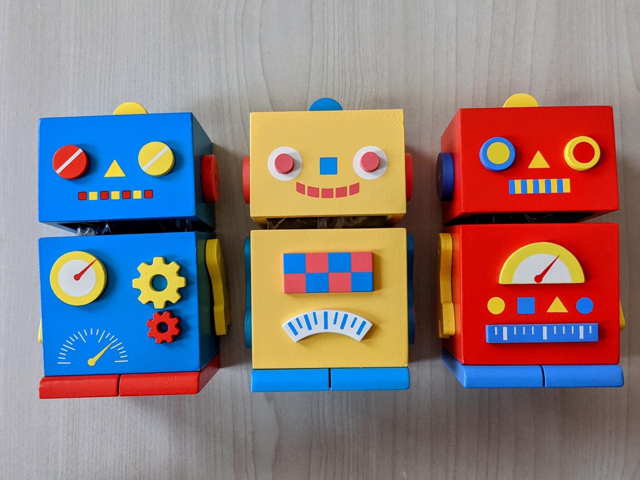 ロボットウッドボックス(チョコレート入り)