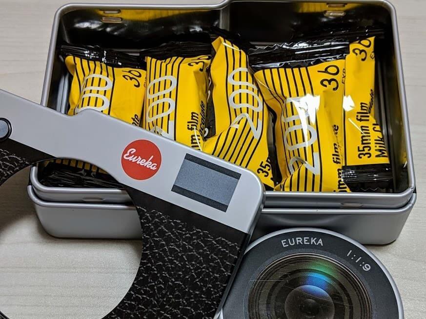 カメラ缶 チョコレート