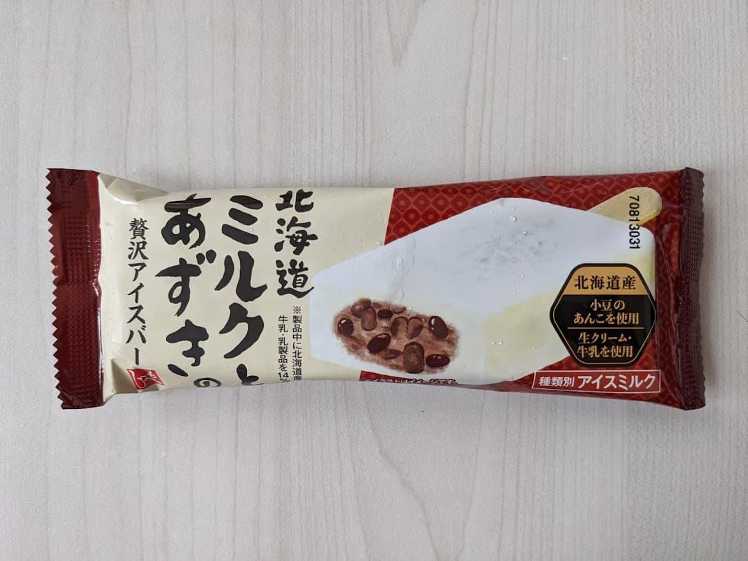 カルディ もへじ 北海道ミルクとあずきの贅沢アイスバー